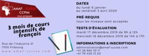 Cours intensifs de français @ AMAF-Suisse / CCPIM