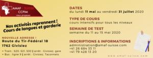 Cours intensifs [mai - juillet 2020] @ AMAF-Suisse / CCPIM