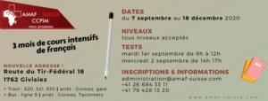 Cours intensifs [septembre - décembre 2021] @ AMAF-Suisse / CCPIM
