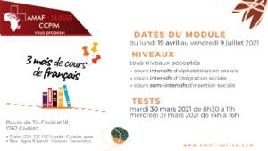 3 mois de cours intensifs de français @ AMAF-Suisse / CCPIM
