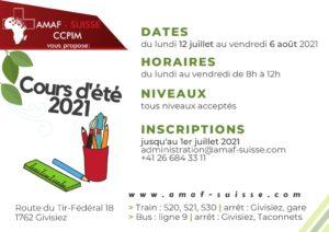 Cours d'été 2021 @ AMAF-Suisse / CCPIM